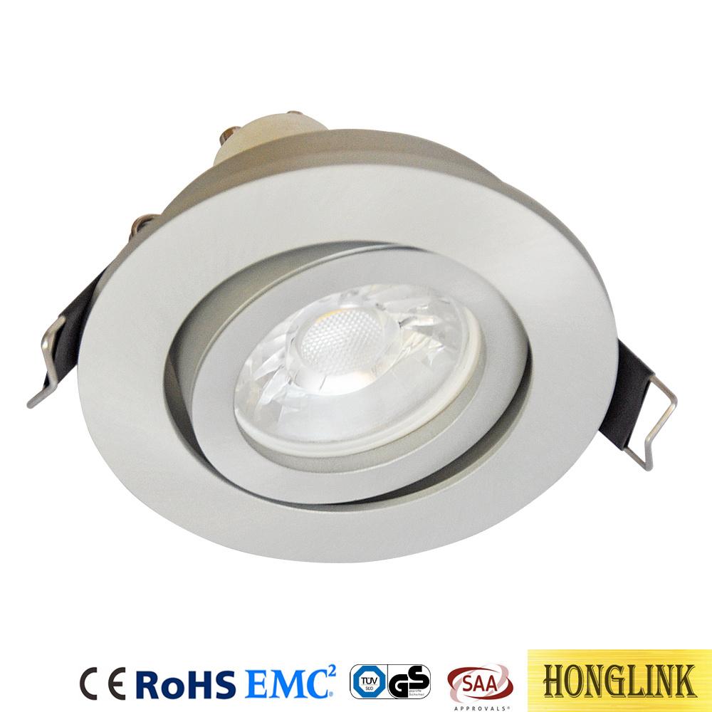 Tiltable aluminum mr16 gu10 downlight fittings ceiling lighting fixtures