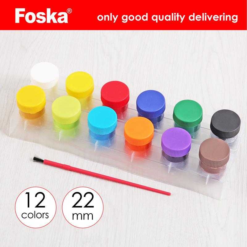China Foska Pp Box Packing 12 Colors Tempera Paint Water Color Paint China Water Color Kids Tempera Paint