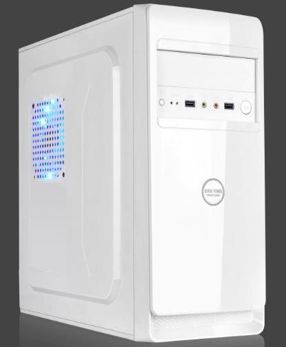 China Bright White Desktop Computer Mainframe Computer Case - China ...