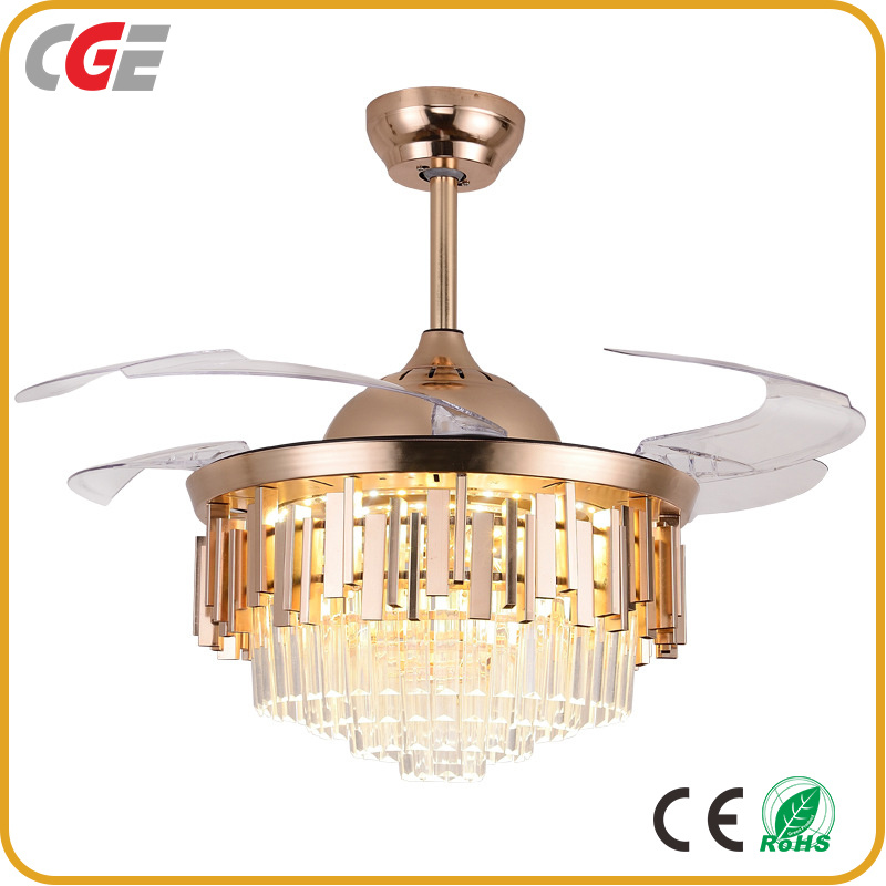 China Fan Ac85 265v Modern Ceiling Fan With Led Light Fan Light Crystal Remote Control Invisible Ceiling Fan Lights Electric Fan Ac Fan China Ceiling Fan Light Led Ceiling Lamp