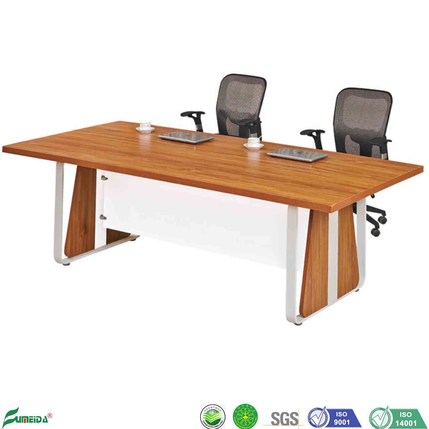[Hot Item] Modern 42 Persons Seats Office Conference Room Wooden Executive  Meeting Table with Metal Legs
