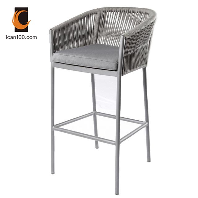 Fantastic Hot Item Anti Aging Wholesale Garden Patio Outdoor Restaurant Aluminum Rope Bar High Chair Stool Chair Ibusinesslaw Wood Chair Design Ideas Ibusinesslaworg
