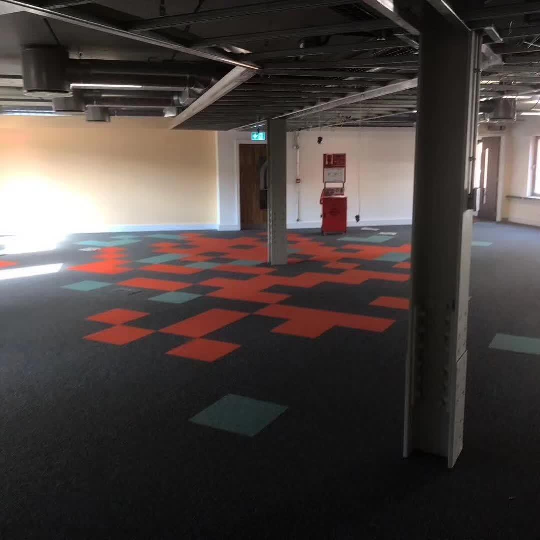Image of: China Customized Color Promotion Hexagon Shape Carpet Tiles For Home Office Commercial Modular Office Carpet Tile For Hotel China Carpet Tile And Office Carpet Price