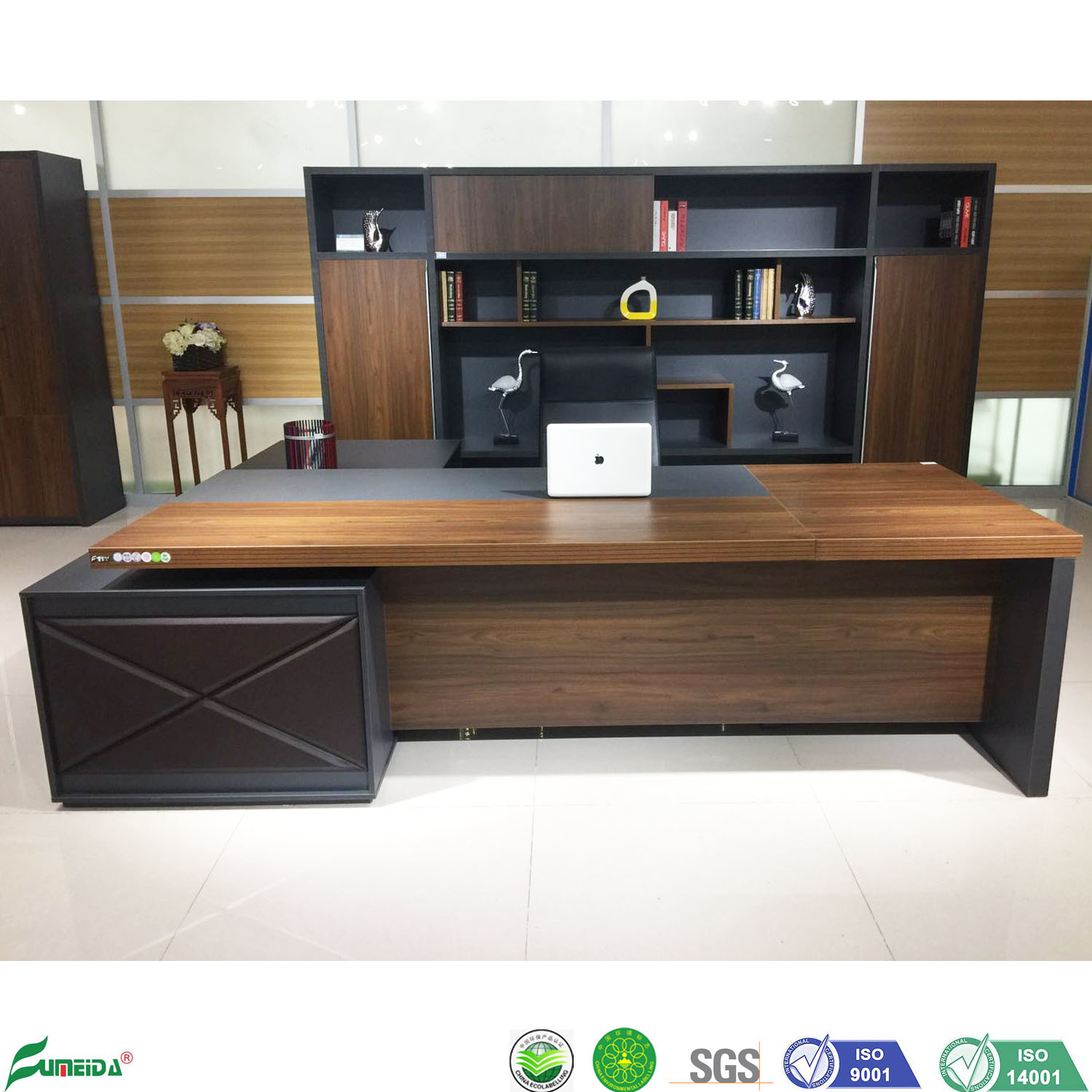 - China Modern Luxury Wooden Standing Computer Desk Office Executive