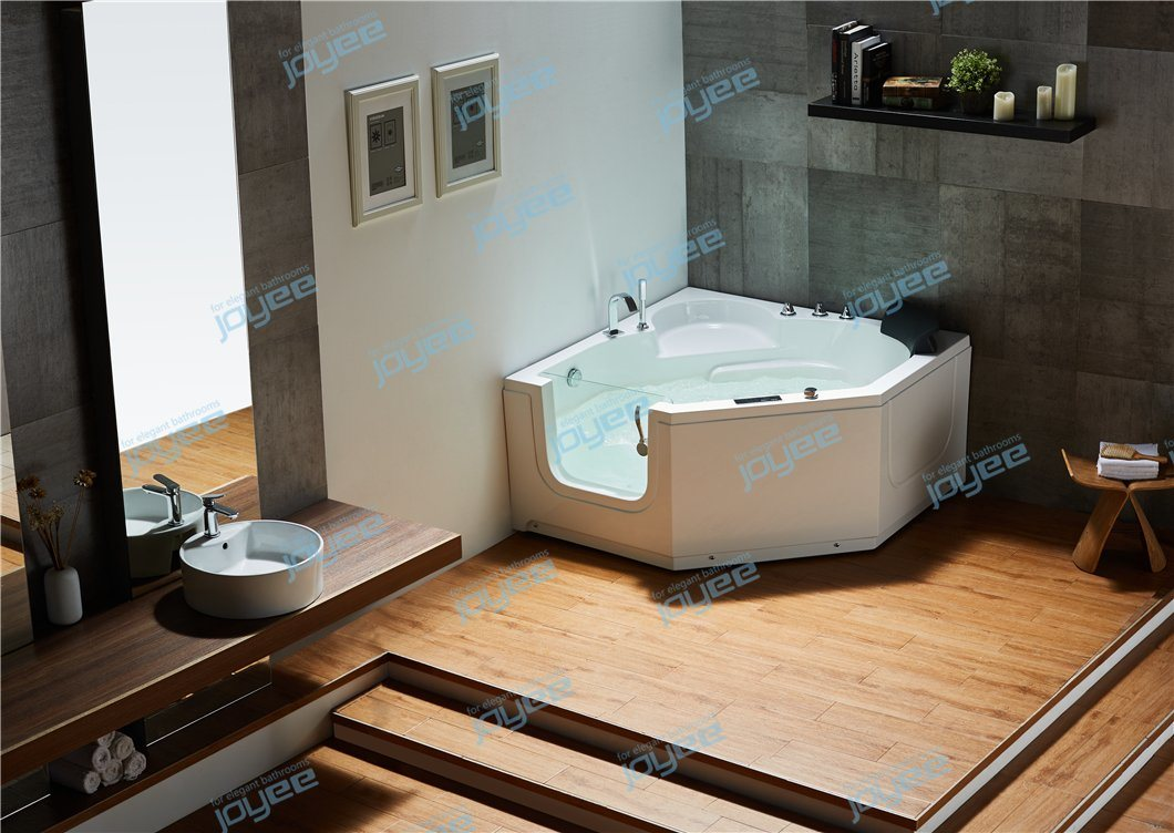 China Joyee Good Quality Corner Small Space Soaking Portable Walk In Hot Tub Jacuzzi Bathtub For Elder With Glass Door Photos Pictures Made In China Com