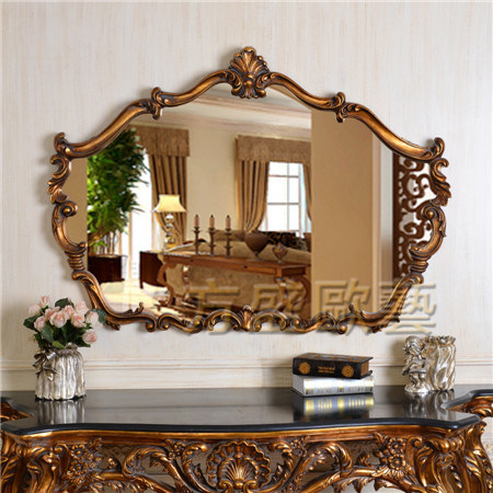 China Antique Framed Mirror Decorative, Vintage Large Wall Mirrors