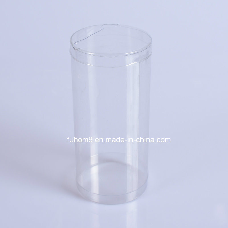 Clear PP/PVC/Pet Plastic Cylinder Packaging Box for Garment Underwear pictures & photos