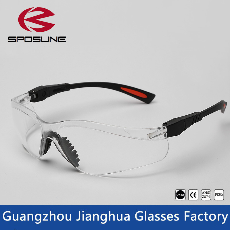 Glasses New Style Black Frame Single Lens Safety Glasses