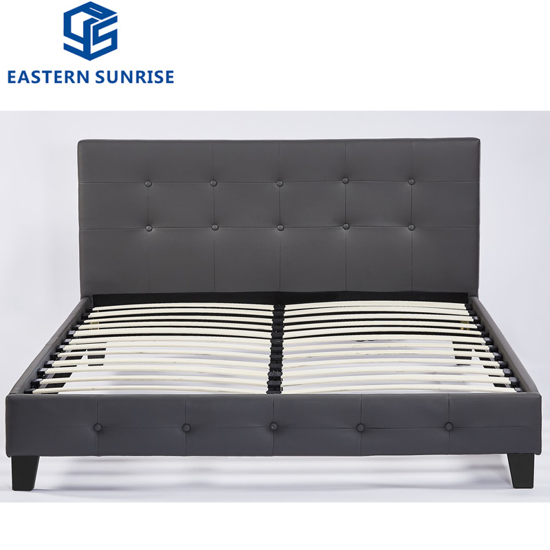 China Cheap Double Leather Beds On Sale Photos Pictures Made