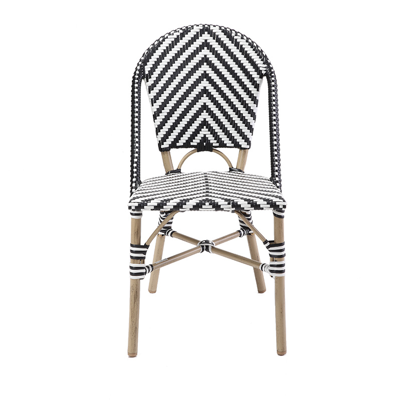 Parisian Bistro Rattan Metal Cafe Chair