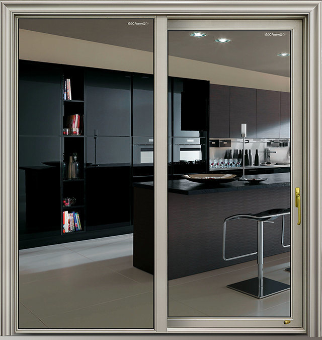 China Latest Door Design Aluminium Interior Kitchen Sliding Doors