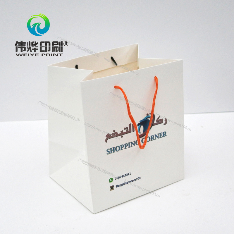 Bag with Ribbons, Silver Hot Foil Printing and Glossy Lamination pictures & photos