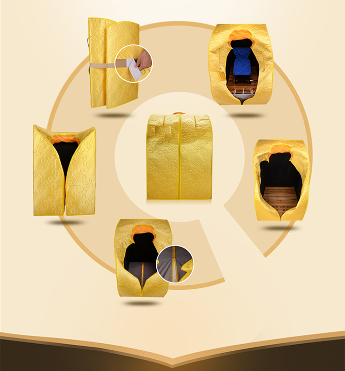 Portable Folding Sauna Room Health Care Far Infrared Sauna pictures & photos