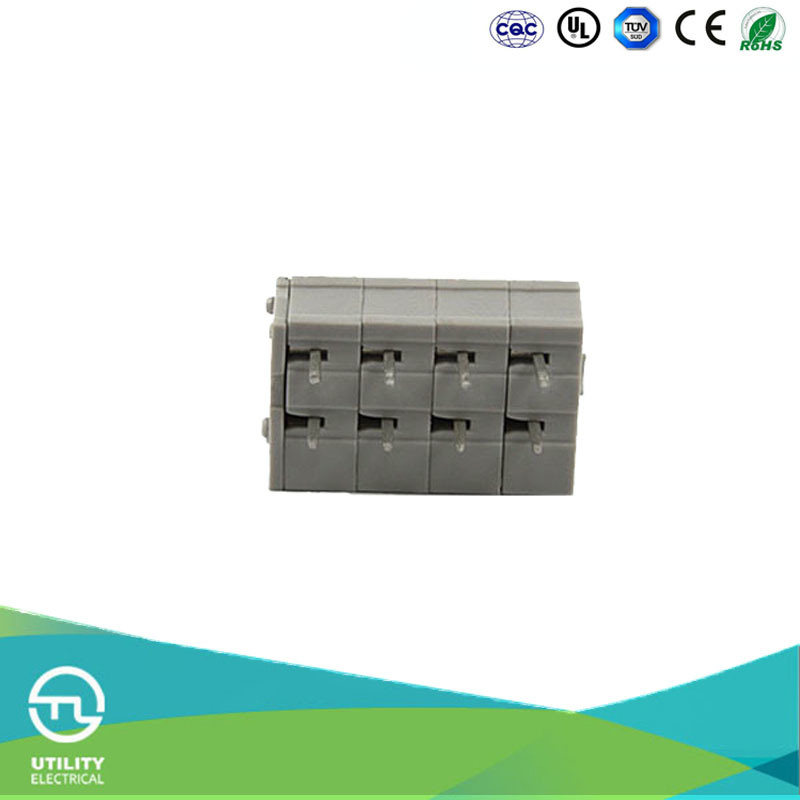 UTL Supply Rising Clamp Connector PA66 UL94 PCB Spring Clamp Terminal Blocks