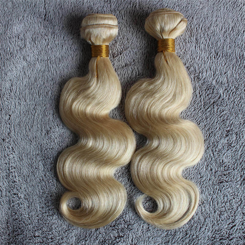 Body Wave Color #613 Blond Remy Hair Weft