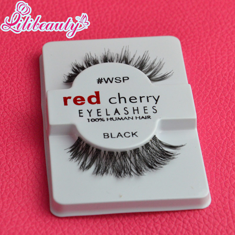 bc6a4c42641 Factory Wholesale Price High Quliay Red Cherry Fake Human Hair Eyelashes