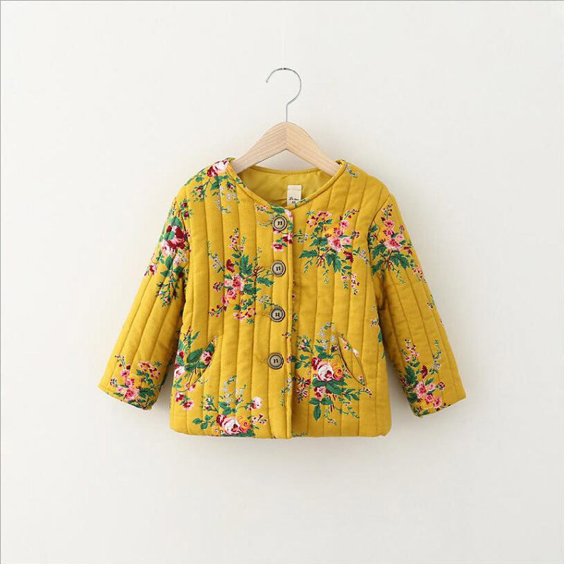 Flower Printed Girl Cotton Coat for Kid Clothes pictures & photos
