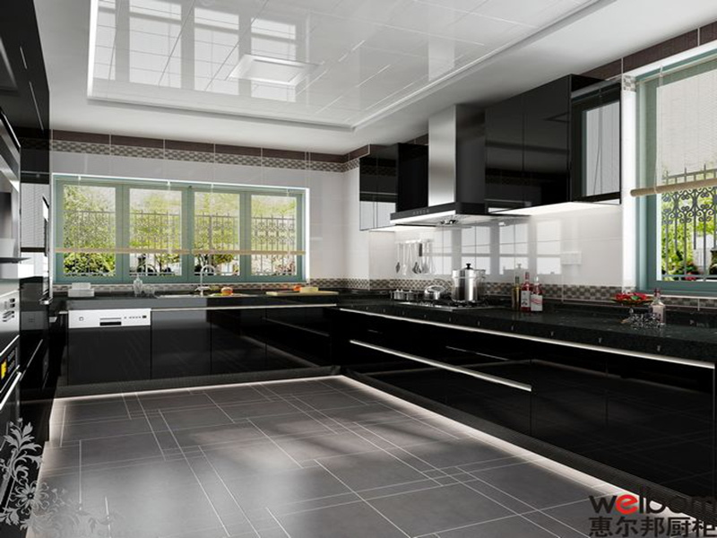 black high gloss kitchen cabinets tips home design high gloss black kitchens 803