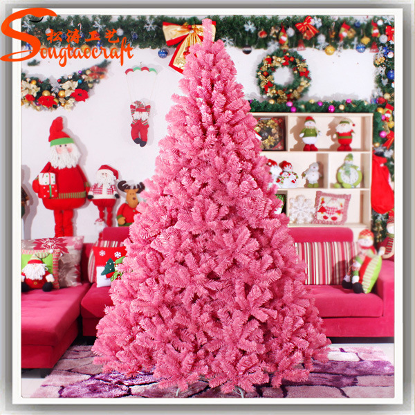 Hot Item Best Selling Decoration Artificial Led Pink Christmas Tree