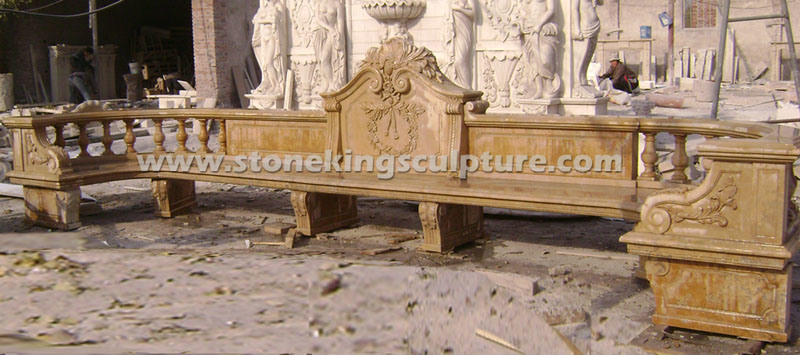 Hand Carved Marble Benches for Home and Garden pictures & photos