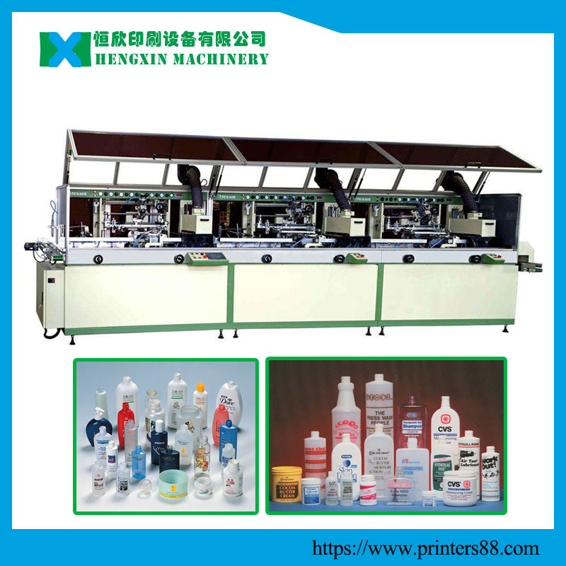 [Hot Item] 3 Color Fully Automatic Screen Printing Machine on Plastic  Bottles