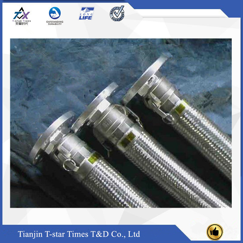 China Flange Joint Stainless Steel Wire Braided Flexible Metal Hose ...
