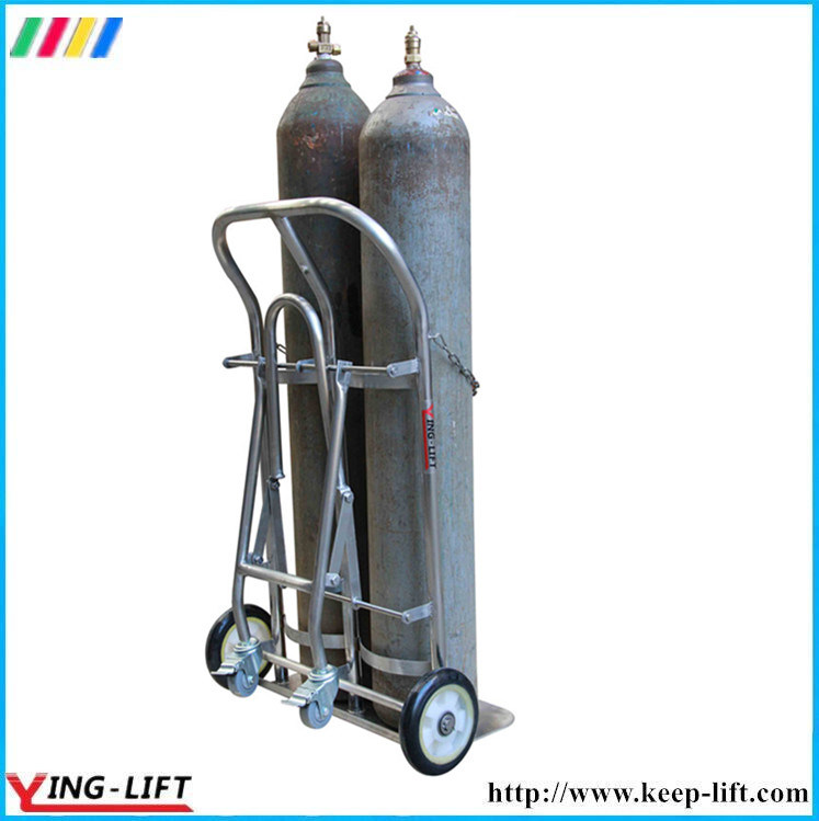 Stainless Steel Cylinder Hand Truck with Double Cylinder Ty130b pictures & photos