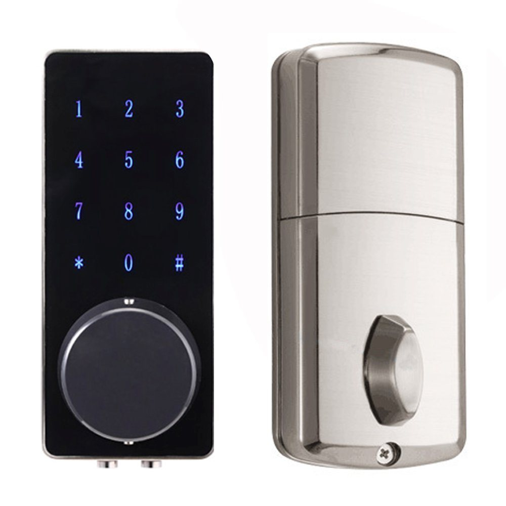 China Electronic Touchscreen Numeric Keypad Bluetooth Deadbolt Door Gold Digital Lock Keyless Smart Code