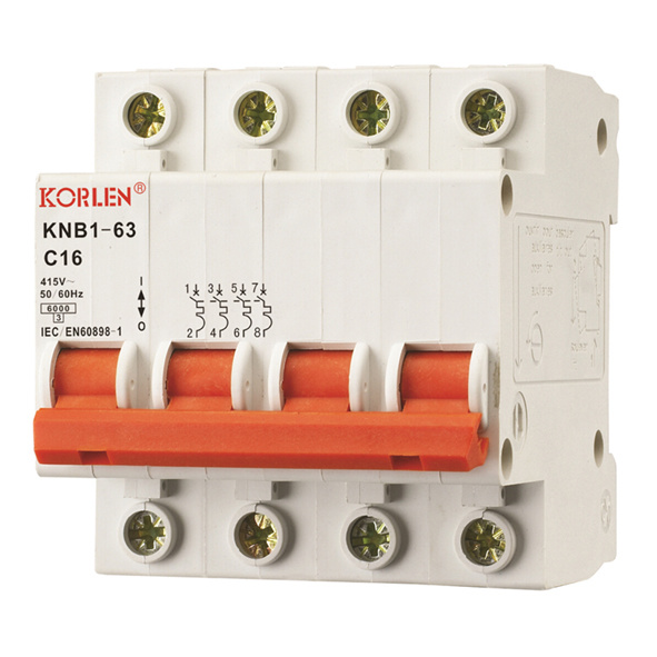 Hiah Quality MCB Mini Circuit Breaker (KNB1-63) pictures & photos