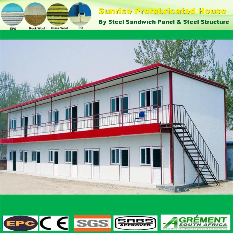 China Kit Homes Prefabricated Apartments Building Prefab Steel House Portable