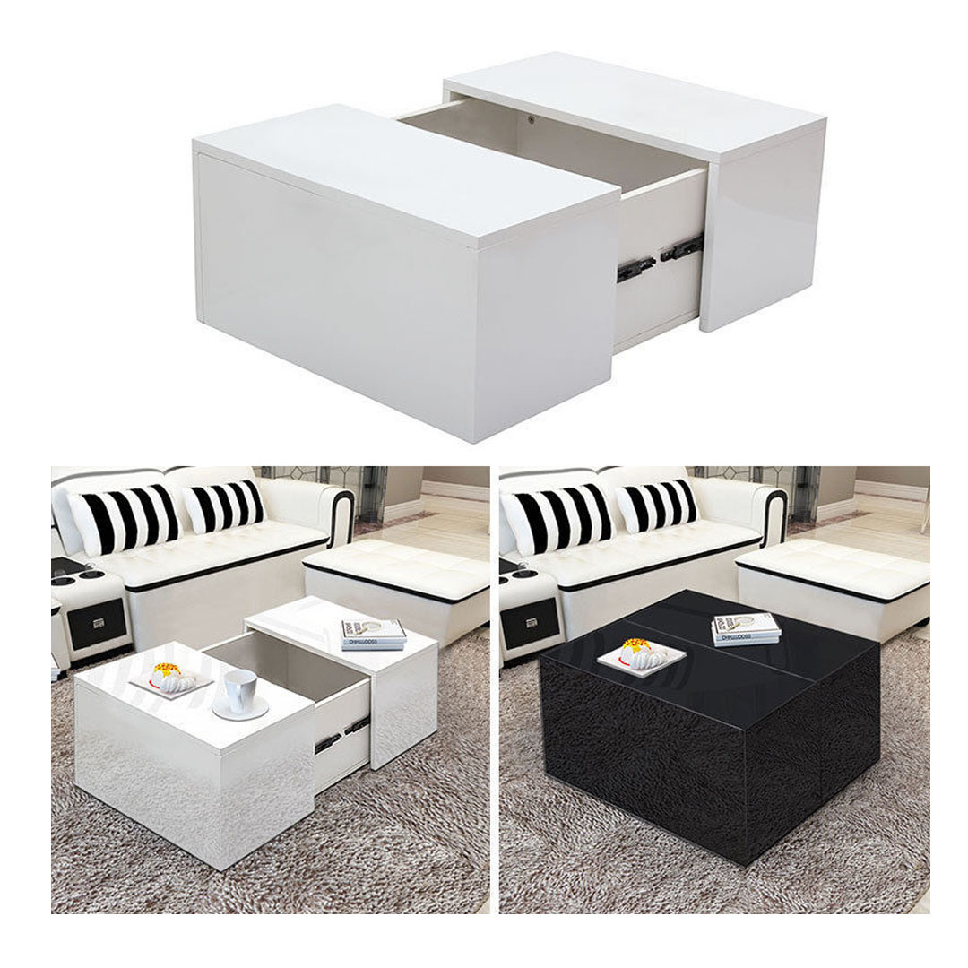 - China High Gloss Living Room Fancy Modern Extendable Coffee Table