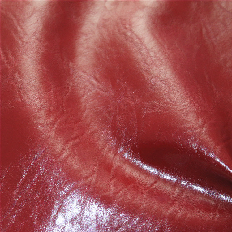High Grade PU Sofa Leather Crazy Hourse Synthetic Leather (768#) pictures & photos