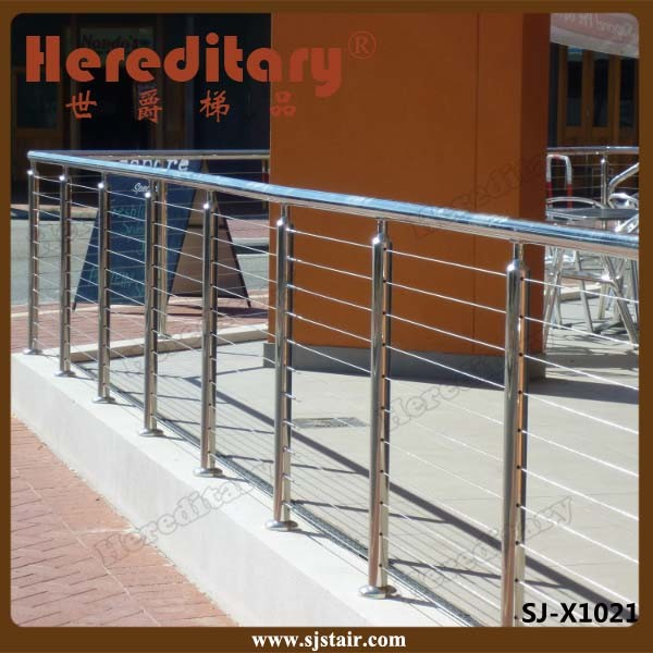Residential Indoor Pipe Railing Stainless Steel Handrail for Stair pictures & photos