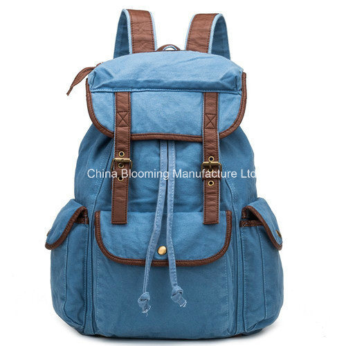 Leisure Canvas Campus School Student Bag Double Shoulder Backpack
