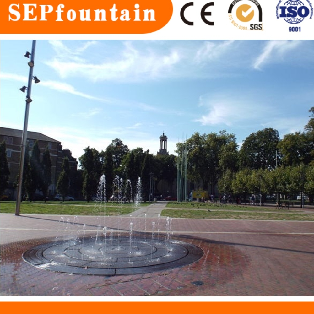 DMX512 Controlling Portable Outdoor Dry Land Fountain Colorful Floor  Fountain