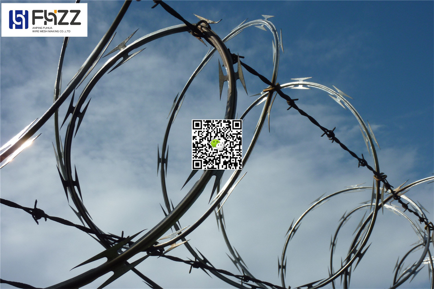 China Concertina Razor Barbed Steel Wire for Factory Safety - China ...