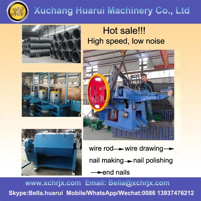 China Steel/Iron/Copper/Concrete/Common Nails Making Machine/Nail ...
