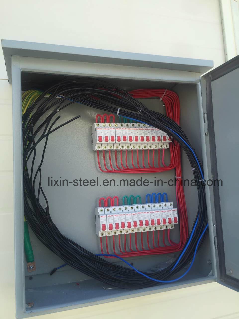China Low Cost Of Mobile House Shop Office Steel Frame Building Wiring