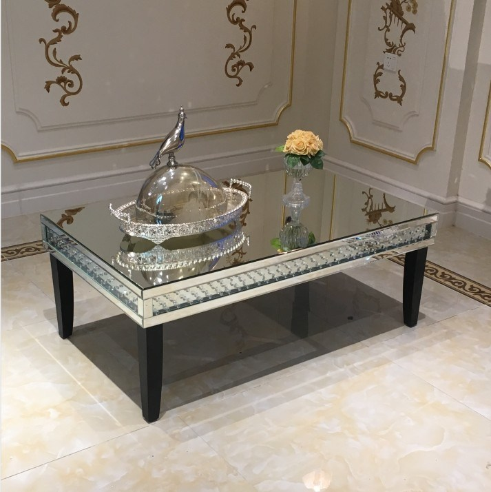 China Floating Crystal Hot Sale Mirrored Coffee Table China