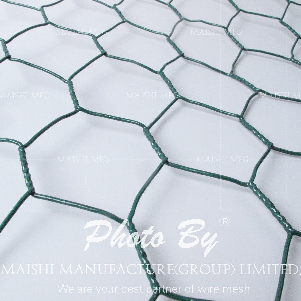 China 31mm Green Black PVC Coated Hexagonal Swamp Mesh Crab Trap ...