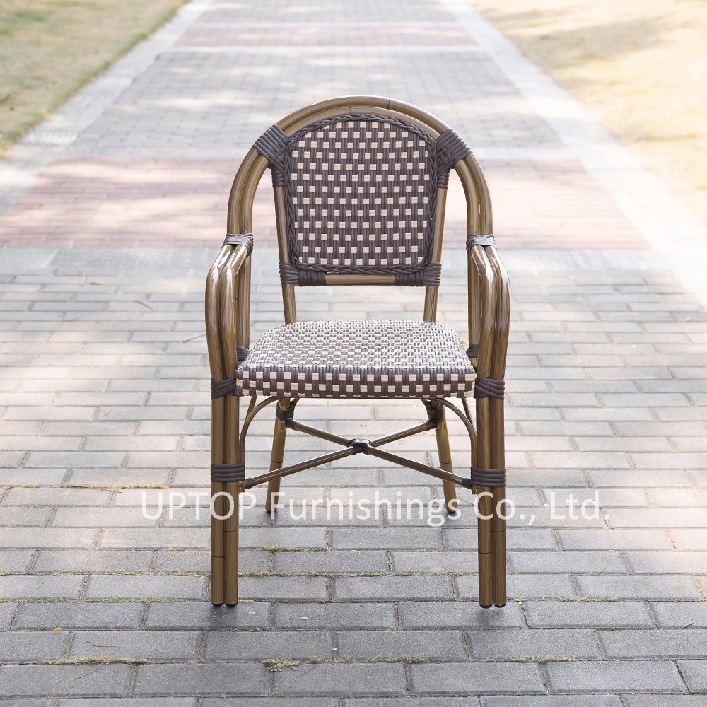 Aluminum Rattan French Bistro Chairs