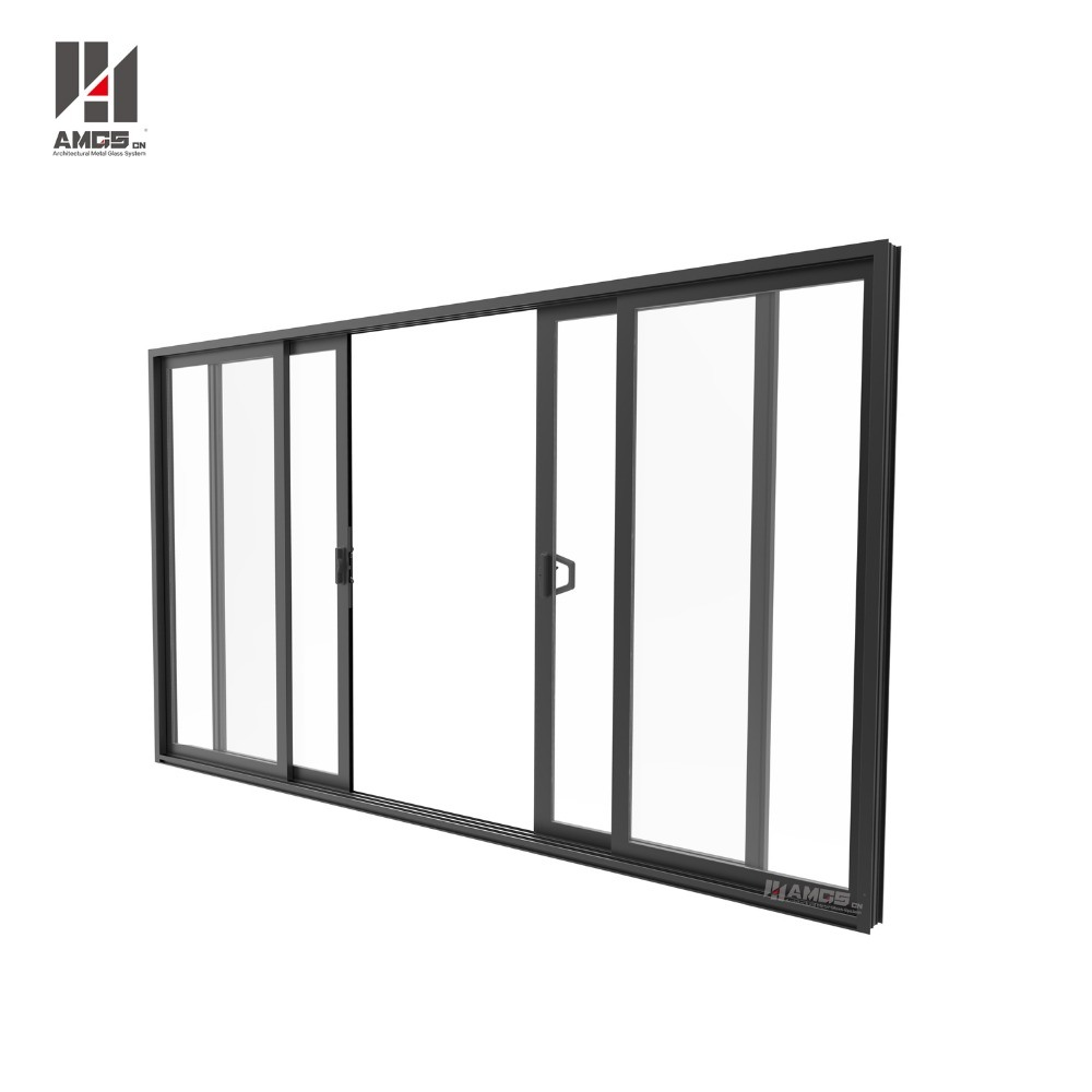China Commercial Double Glass Waterproof Aluminium Profile Used