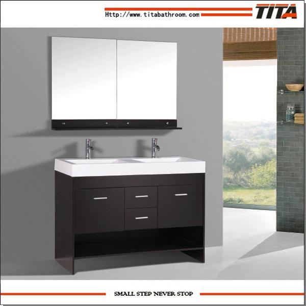 China Hotel Bathroom Vanities Cabinet Furniture With Mirror