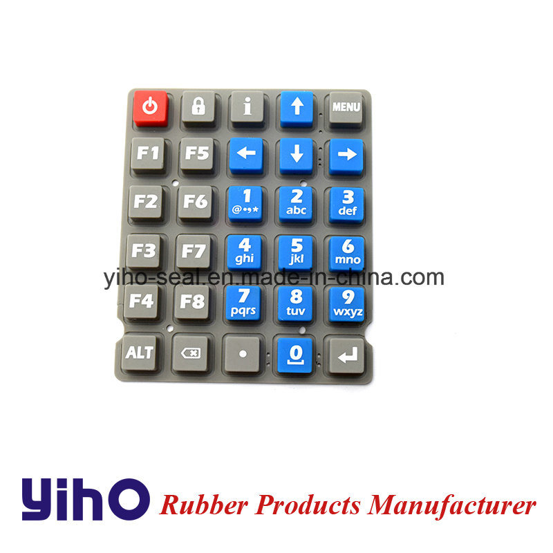 Custom Silicone Rubber Keypad Via 3D or CAD Drawing pictures & photos