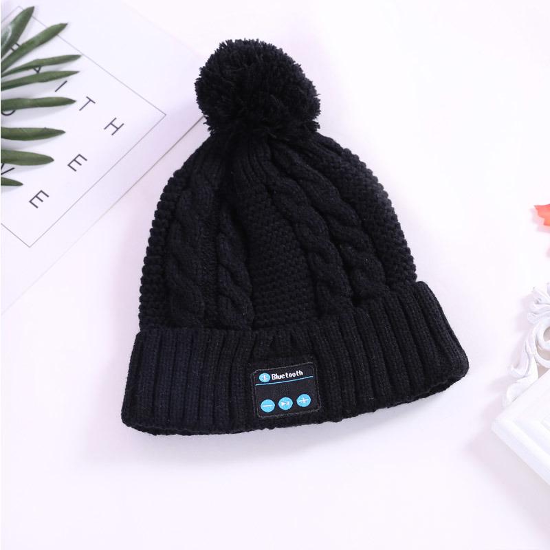 7f53a4ced72 Fashion Warm Woolen Winter Acrylic Knitted Hat Wireless Earphone Sports  Beanie Hat Wm5