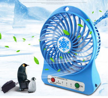 [Hot Item] Mini Fan Portable Fan Student Handheld Fan USB Charging  Snowflake with a Small Fan