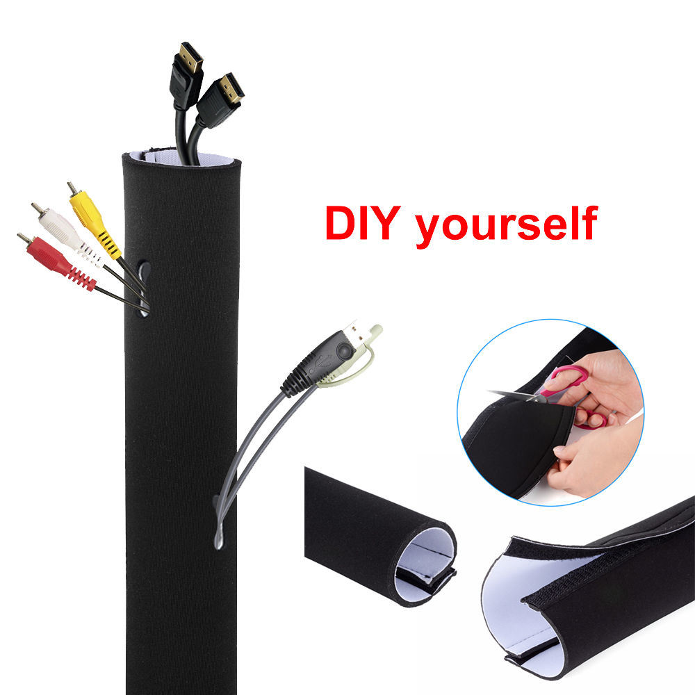 China Neoprene Cable Organizer Wrap Flexible Cord Cover Wire with ...