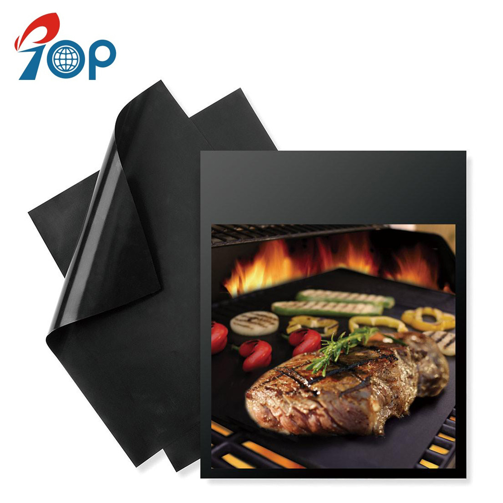 BBQ Grill PTFE Mesh Mat Reusable Heat-Resistant Non-Stick Sheet Barbecue Tool B