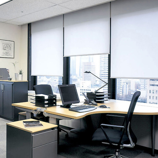 Blue Color Roller Blinds Office Sunshade Curtains Window Blinds