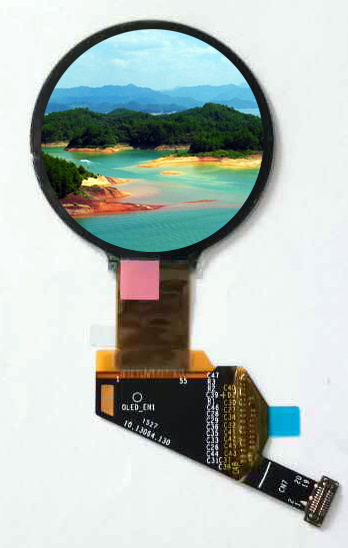 [Hot Item] 1 39-Inch Mipi/Dsi/HDMI Active Matrix OLED Display, Round Shape  for High-End Wearable Device